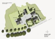 <h5>Functieverandering Beltrum</h5><p>Plankaart (onderdeel van rapport) landschapsplan ten behoeve van functieverandering in het kader van de Rood voor Rood regeling in de gemeente Berkelland. Een deel van een bestaande stal wordt verbouwd tot schuurwoning en een nieuwe woning wordt gebouwd ter vervanging van varkensstallen. Samen vormen ze met de bestaande woning een nieuw erfensemble.</p>