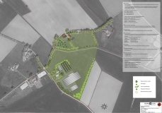 <h5>Landschappelijke inpassing Gelselaar</h5><p>Plankaart (onderdeel van rapport) landschapsplan ten behoeve van bedrijfsverplaatsing in Gelselaar in de gemeente Berkelland. Stallen worden gesloopt rond de historische boerderij en worden verplaats naar een nieuwe kavel. De landschappelijke structuren worden versterkt waardoor het oude erf een kwaliteitsslag maakt en de nieuwe stallen landschappelijk worden ingepast.</p>