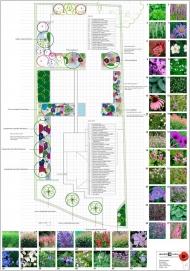<h5>Beplantingsplan tuin 1</h5><p>Fam. Ampting Groenlo.</p>